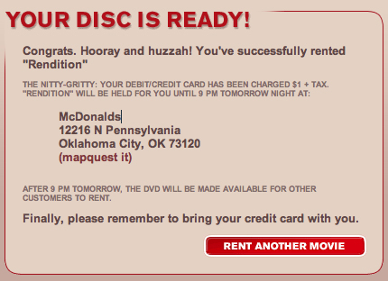 RedBox Your Disc is Ready