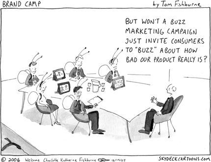 Buzz Marketing Cartoon
